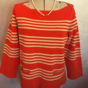 J.Crew Fall Sweater Striped M D2-6